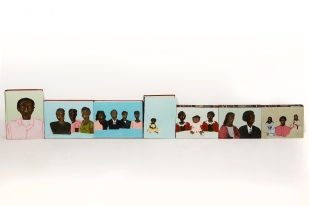 Retrato Silenciado | Óleo sobre livro | 425 x 28,5cm | Foto: Paulo Rezende | Coleção Barella | 2014
