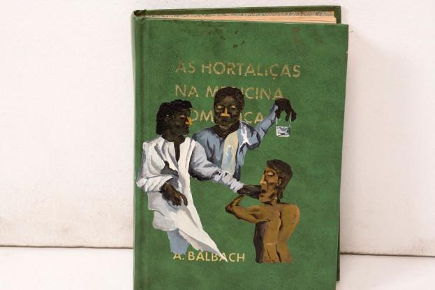 Dalton Paula | Santos Médicos | Óleo sobre livro | Sete livros | Foto: Paulo Rezende | 2016