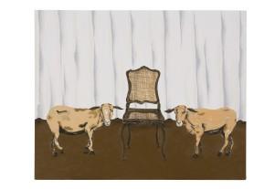 Dalton Paula | Cabra e cadeira | 40 x 50 cm| óleo sobre tela | Foto: Paulo Rezende | 2017