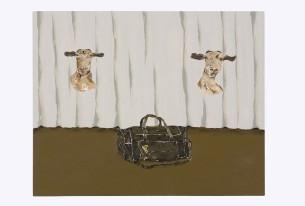 Dalton Paula | Cabra e mala | 40 x 50 cm| óleo sobre tela | Foto: Paulo Rezende | 2017