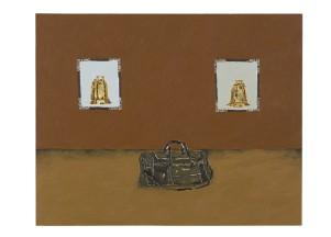 Dalton Paula | Sino e mala | 40 x 50 cm| óleo sobre tela e folha de ouro 22 k| Foto: Paulo Rezende | 2017