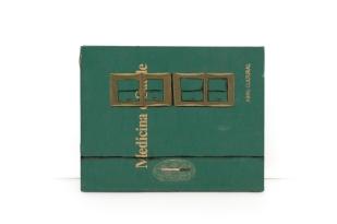 Dalton Paula | Cozinha Sagrada | Detalhe | Óleo, folha de prata e folha de ouro sobre livro | 31,5 x 150 cm | Foto: Paulo Rezende | 2018
