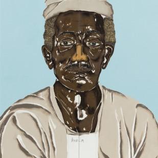 Dalton Paula | Alufá Rufino | Óleo e folha de ouro sobre tela | 45 x 61 cm | 2020 | Foto: Joerg Lohse