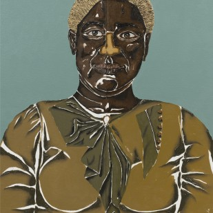 Dalton Paula | Narcisa Ribeiro | Óleo e folha de ouro sobre tela | 45 x 61 cm | 2020 | Foto: Joerg Lohse